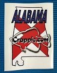 Crappie.com State Decal - Alabama red
