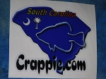 Crappie.com State Decal - South Carolina