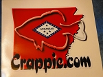 Crappie.com State Decal - Arkansas