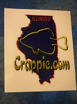 Crappie.com State Decal - Illinois