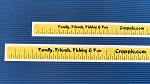 Crappie.com Measuring Tape stick on decal