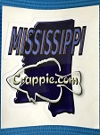 Crappie.com State Decal - Mississippi blue